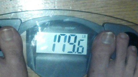 Breaking my previous all time low by 6 pounds!